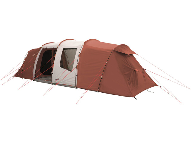 Easy Camp Huntsville Twin 800 Tente, red/light grey